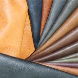 Artificial cuero de la PU de la tapicería de muebles con grano de Lichee