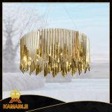 Lâmpada moderna do pendente do restaurante do aço inoxidável do ouro (KAP17-009)