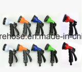Шланг сада эластичного шланга Ebay голубой облегченный расширяемый + сопло брызга 8 функций