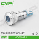 indicatore luminoso di indicatore impermeabile del metallo LED di 08mm