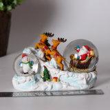 Bol van de Sneeuw van de Gift van Kerstmis van Polyresin de Dubbele voor de Decoratie van het Huis
