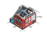 [رد كلور] حافلة تصميم قابل للنفخ ييقفز قصر مع لعب