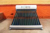 Color de acero del tubo de vacío de baja presión calentador de agua solar