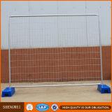 Painel de cerco modular provisório galvanizado removível da tubulação branca
