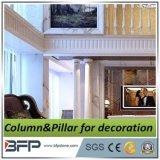 Mármore branco com veia Cinza Coluna para Villa Decoration