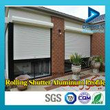 Profilé de porte d'obturateur à rouleaux à rouleaux sur mesure 6063 Profil d'extrusion en aluminium en aluminium