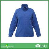 Jaqueta de lã de manga comprida para uso ao ar livre
