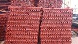 メーカー価格赤い塗られたQ235 Cuplockの足場