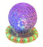 Mini do partido mágico de cristal do disco do diodo emissor de luz da luz do efeito da esfera do RGB luz colorida de giro