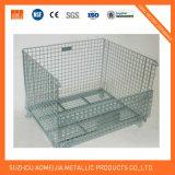 폴딩 판매를 위한 Lockable 철강선 메시 콘테이너 금속 저장 깔판 감금소
