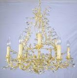 Candelabro elegante malogrado dourado da venda superior da fábrica com UL