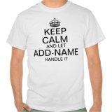 Le calme de subsistance et a laissé ajoute le traitement nommé qu'il personnalisent le T-shirt