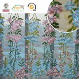 Blue&Pinkの花のParty&Wedding C10011のための敏感なPolysterのレースファブリック