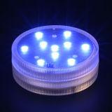 Lampada sommergibile di telecomando 10 LED di RGB per natale di cerimonia nuziale