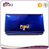 Изготовленный на заказ кожаный бумажник для женщин, оптовое причудливый портмоне муфты повелительниц