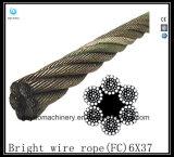 Fibre Core 6X21 Ligne de forage à fil brillant