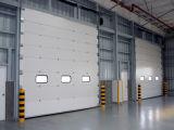 オーバーヘッド縦の部門別のパネルの産業圧延の鋼鉄ドア(HzSD021)