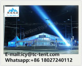 Tent 25X60m van de Partij van de mengeling het Witte Dak van het Glas van pvc met de Decoratie van de Voering Vvip