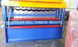 機械を形作る二重デッキの金属のプロフィールの屋根ふきロール