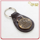 Cuero genuino Keychain de la alta calidad de lujo del diseño