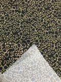 tissu de peau de pêche de tissu de circuit de plage estampé par 100polyester