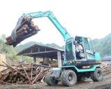 中国は360度の回転ログが付いている小さい車輪の掘削機取り組む