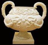 Flowerpot delle decorazioni della scultura del giardino del basamento dell'arenaria