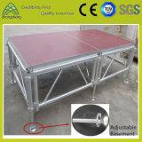 Этап ферменной конструкции представления оборудования этапа алюминиевый портативный