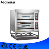 Commerciële Multifunctionele 2 Dekken 4 Oven van de Pizza van Dienbladen de Elektrische