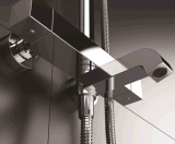 Mélangeur thermostatique fixé au mur de douche avec la plate-forme