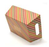 Streifen-Packpapier-verpackengeschenk-Kasten mit Griff