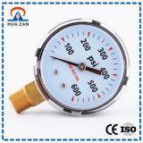 Calibre de pressão preto do caso 600psi da elevada precisão barato