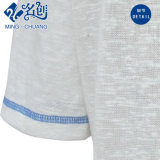 Le T-shirt de Bas-Rayage de Rond-Collier argenté de à manches courtes des femmes desserrés mous décents de coton