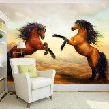 Papel pintado mural del sofá de la sala de estar del dormitorio del papel pintado mural de encargo, mural del pavo real