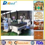 9.0kw Hsd Luftkühlung-ATC-Spindel-Möbel-Holzbearbeitung CNC, der den 4 Mittellinien-Fräser für Verkauf Dek-1325 graviert