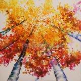 Pintura al óleo baja de aluminio para el árbol