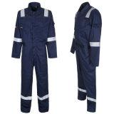 Vêtements de travail élevés d'aéroport de visibilité avec la combinaison r3fléchissante de bande du coton