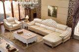 Estilo real L sofá del cuero de la dimensión de una variable, nuevos muebles caseros clásicos (6020)
