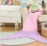 Cobertor macio portátil do poliéster da cauda da sereia de matéria têxtil Home