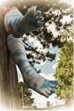 Носок Tabi носка пальца ноги платья конструкции Freash Patten облака