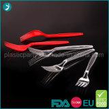 Borrar/desechables de plástico de color blanco PS parte tenedor de postre