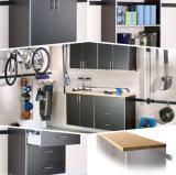 Tipo de la cabina y cabina de herramienta material del garage de madera