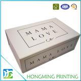 Cadre de empaquetage estampé fait sur commande de cadeau pliable de modèle de carton