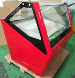 치즈 냉각장치 냉장고 전시 또는 자유로운 Standingice 크림 냉각장치 냉장고 진열장 (QP-BB-12)