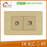 Aluminium Metal Clab Two Gang One Way Power Switch