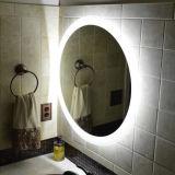 Personnaliser le miroir de pièce de salle de bains allumé par DEL biseauté par Frameless de vanité d'hôtel de taille