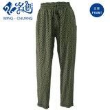 녹색 느슨한 고무 Trouser 벨트 패턴 형식 숙녀 바지
