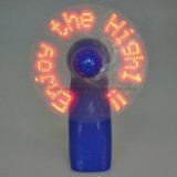Super populäre fördernde LED-Meldung-Handventilatoren mit Firmenzeichen gedruckt (3509)
