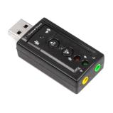 까만 Cm108 접합 칩을%s 가진 USB 7.1 음성 카드