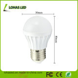 Luz de bulbo plástica estupenda del brillo E27 3W LED